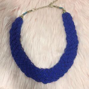 NWOT - Bohme - Blue Beaded Necklace